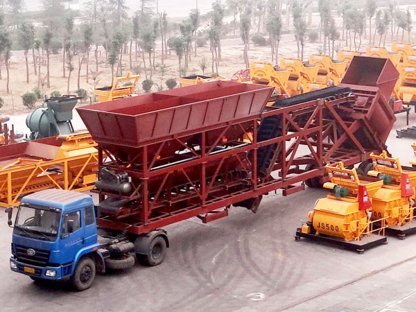 YHZS90 Mobile Type Concrete Batching Plant For Sale